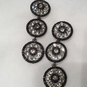 Jewelry - Triple Rhinestone Rosette Earrings